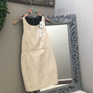 NWT Sanctuary Vegan Leather Cream and Black Dress